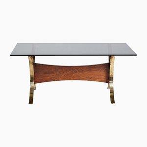 Table Basse Vintage en Verre Fumé, 1960s