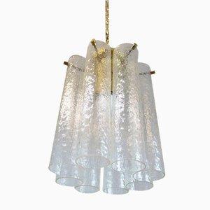 Italienische Tronchi Deckenlampe aus Muranoglas, 1960er