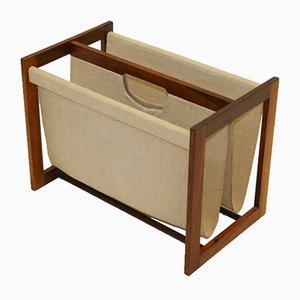 Danish Rosewood Magazine Rack from Central Moblen Odense, 1960s