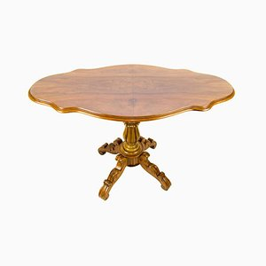 Victorian Style French Walnut Tilt-Top Dining Table, 1920s