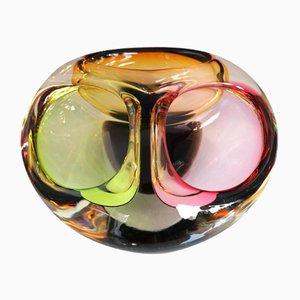 Mid-Century Italian Murano Glass Three-Section Bowl, 1960s