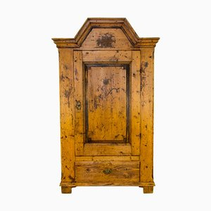 Antique Rustic Baltic Pine Armoire, 1862
