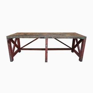 Großer Industrielle Vintage Tisch aus Fichtenholz, 1930er