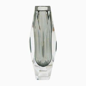 Mid-Century Italian Submerged Murano Glass Vase