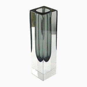Vaso Mid-Century in vetro di Murano Sommerso, Italia, anni '60