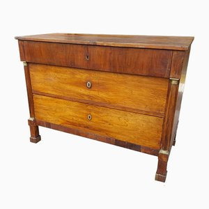 19th-Century Empire Italian Walnut Chest of Drawers