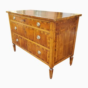18th-Century Louis XVI Italian Walnut Chest of Drawers