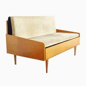 Mid-Century Wooden Convertible Sofa, 1960s