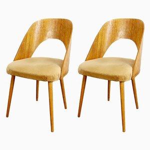 Vintage Esszimmerstühle aus Holz, 1960er, 2er Set