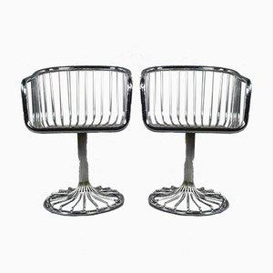 Vintage Stühle aus Stahlrohr, 1970er, 2er Set