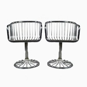 Vintage Tubular Steel Chairs, 1970s, Set of 2