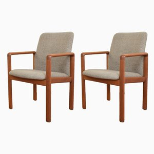 Danish Fabric and Teak Side Chairs from SVA Møbler, 1960s, Set of 2