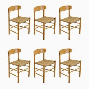 Dänische J 39 Esszimmerstühle aus Buchenholz von Børge Mogensen, 1960er, 6er Set