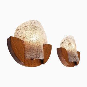 Moderne deutsche Wandlampen aus Muranoglas, 1960er, 2er Set
