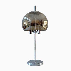 German Chrome & Glass Table Lamp from Doria Leuchten, 1960s