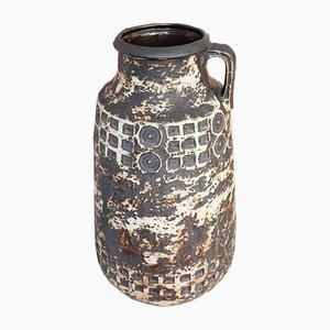 Large Mid-Century German Ceramic Fat Lava Vase from Scheurich, 1960s