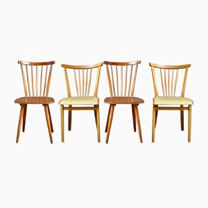 Vintage Scandinavian Mixed Dining Chairs Set