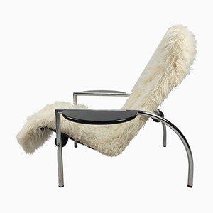 Italienischer Noe Sessel aus Stoff & Metall von Giampiero Vitelli, Titina Ammannati für Moroso, 1980er