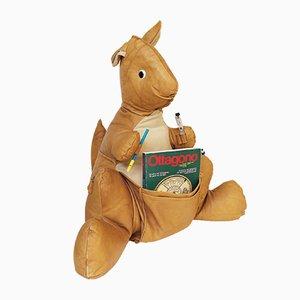 Revistero Kangaroo Mid-Century de cuero, años 60