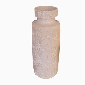 Große deutsche Mid-Century Amserdam Vase aus weißer Keramik von Scheurich, 1960er