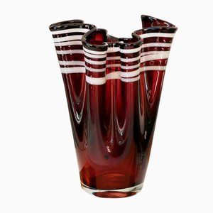 Murano Glass Handkerchief Vase, 1960s