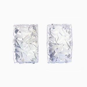 German Frosted Glass Sconces from Kaiser Idell / Kaiser Leuchten, 1960s, Set of 2