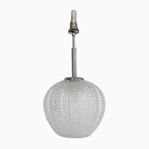 Deutsche Stehlampe aus Blasenglas von Hustadt Leuchten, 1960er