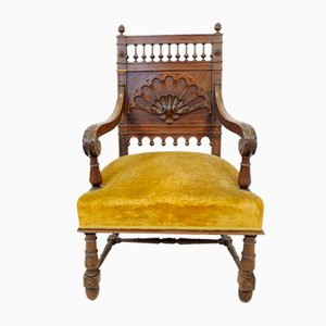 Antique Italian Walnut Armchair