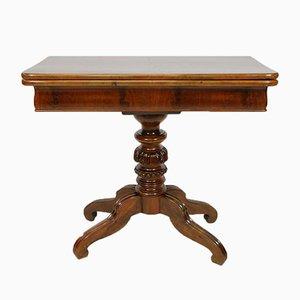 Table de Jeux Antique en Acajou