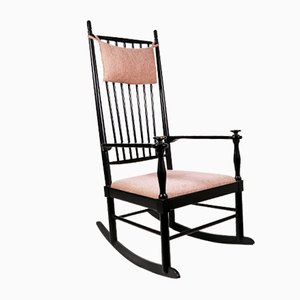 Rocking Chair Isabella en Chêne Lacqué par Karl-Axel Adolfsson pour Gemla Möbler, Suède, 1950s