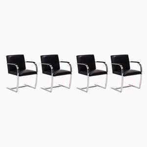 Schwarze Vintage Brno Stühle von Mies van der Rohe für Knoll, 4er Set