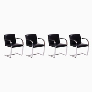 Vintage Black Brno Chairs by Mies van der Rohe for Knoll, Set of 4