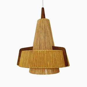 Bast Pendant Lamp from Temde, 1960s