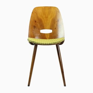 Oak, Plywood, and Veneer Lollipop Dining Chair by František Jirák for Tatra, 1960s
