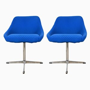 Blue Shell Chairs, 1970s, Set of 2