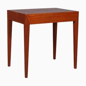 Dänischer Nachttisch aus Teakholz von Severin Hansen für Haslev Møbelsnedkeri, 1960er