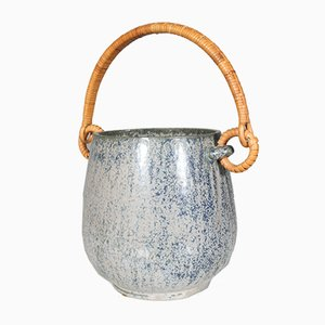 Mid-Century Danish Glazed Stoneware Ice Bucket by Arne Bang