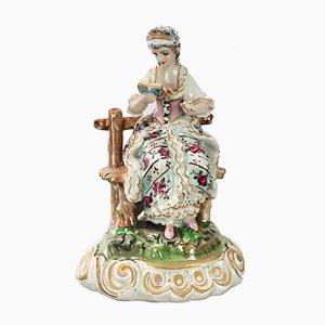Figurine Vintage en Porcelaine Peinte à la Main de Meissen