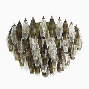 Italienische Vintage Deckenlampe aus Kristallglas, 1982