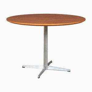 Mid-Century Danish Aluminum and Aniline Leather Dining Table by Arne Jacobsen for Fritz Hansen