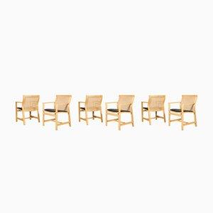 Vintage Armlehnstühle aus Eschenholz von Rud Thygesen & Johnny Sørensen, 6er Set