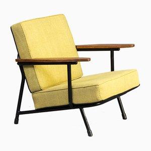 013 Armlehnstuhl aus Stoff und Metall von Alf Svensson für Dux, 1950er