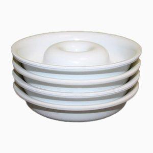 Cendriers en Plastique par Isao Hosoe pour Kartell, Italie, 1970s, Set de 4
