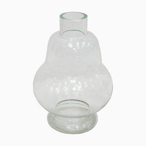 Antike französische Vase aus geformtem Glas