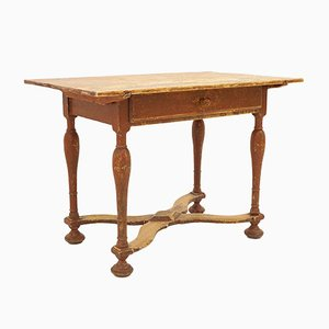 18th-Century Gustavian Swedish Wooden Side Table, 1750s