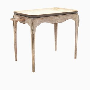 Gustavianischer Beistelltisch aus Holz mit Ablageplatte, 18. Jh.