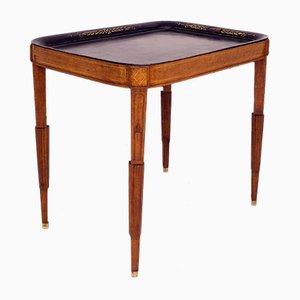 Gustavianischer schwedischer Tisch aus Holz mit Ablageplatte, 18. Jh.