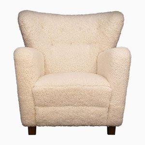 Dänischer Vintage Sessel aus Schafsfell, 1930er