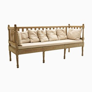 18th-Century Gustavian Wooden Bench