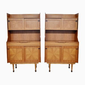 Mid-Century Italian Rosewood Cabinets, 1960s, Set of 2